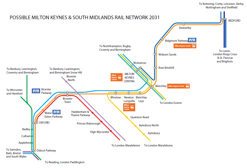 western section anticipated rail services
